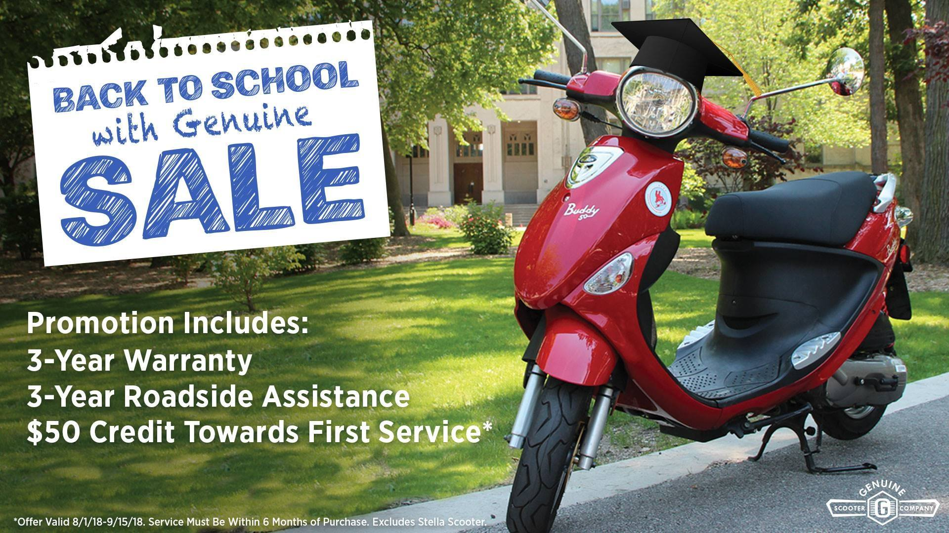 Genuine Scooters Back to School Sale