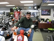 Mike Gonsalves at New Haven PowerSports in CT